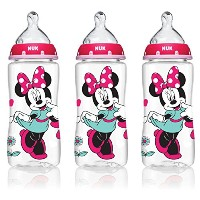 NUK 62048 Disney Baby Bottle with Perfect Fit Nipple, Minnie Mouse, 10 Ounces, by NUK