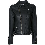 Le Ciel Bleu - Wash Leather Riders jacket - women - ラムスキン - 36