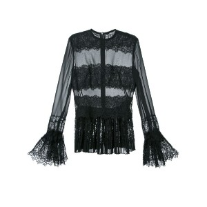 Ermanno Scervino - lace blouse - women - シルク - 44