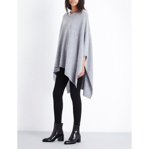 セオリー theory レディース アウター ポンチョ【wool and cashmere-blend cape】Pale pewter