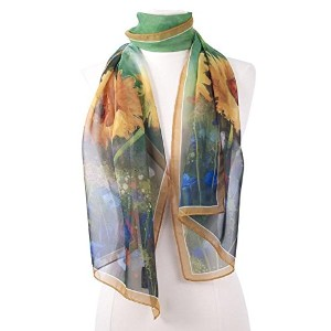 "【Galleria】ロング スカーフ Floral Collection ""Sunflower"" Scarf サンフラワー(ひまわり)"