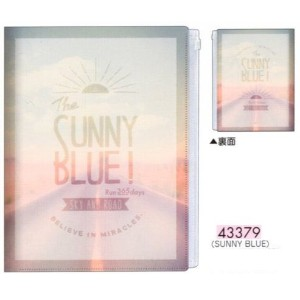 SUNNY BLUE! / ファスナー付 6ポケット A4 クリアファイル 43379