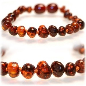 The Art of Cure Baltic Amber Teething Necklace (Unisex) (HONEY) - Anti-inflammatory Drooling &...