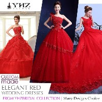 Royal Red Bridal Gown Plus Size Beaded Lace Court Train Ball Gown Wedding Dresses Sleeves Full Lengt