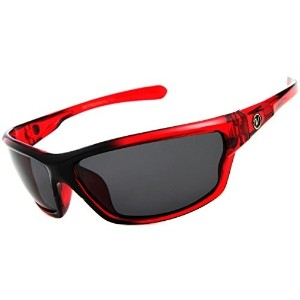 Nitrogen Mens Rectangular Sports Wrap 65mm Red Polarized Sunglasses