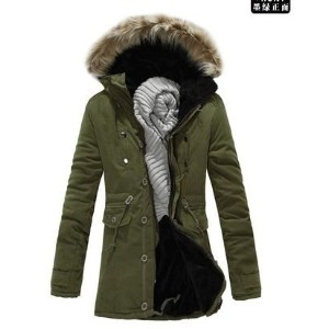 Mens Premium casual cotton jacket winter hooded jacket warm coat