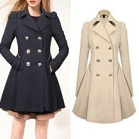 Fashion Women Lady OL Winter Spring Double-breasted Casual Coat Long Outerwear Slim Trench Parka...