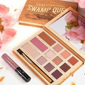 Swamp Queen Eye Shadow Bloom Clay Palette 12 Colors Eye Shadow With Brush