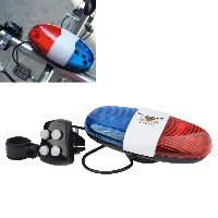 6 LED 4 Tone Sounds Bike Bicycle Horn Bell Police Car Light and Electronic Horn Siren