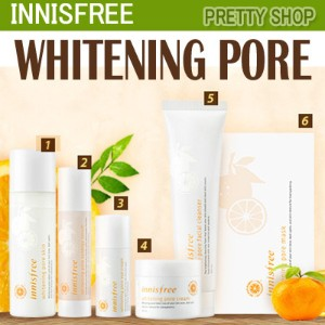 ★Innisfree★WHITENING PORE Line!(Skin/Synergy Serum/Eye Cream/Cream/Facial Cleanser/Mask)