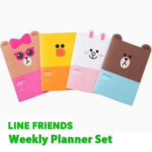 [Line Friedns] Line Friends Weekly Planner 4PCS 1Set Diary