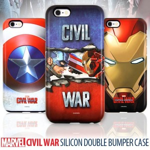ブランド 公式 ライセンス [MARVEL] CIVIL WAR SILICON DOUBLE BUMPER CASE ケース iPhone 6/S iPhone 6/S Plus G920...