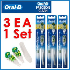 CrossAction Power Whitening Toothbrush Refill 3pack -6EA / Tooth whitening / dual cleaning effect /...