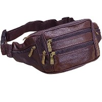 (HiDay) HiDay Leather Waist Bag Multiple Pocket Fanny Pack