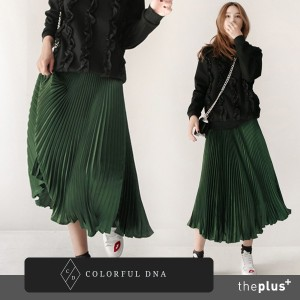 ★COLORFUL DNA★ pleats metal skirt / DESIGN BY KOREA /Korea famous fashion blogger Recommended...