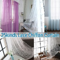 Lace Window Curtain 25 kinds★Chiffon Curtain 1+1★Cotton 100% Romantic Curtains★Home Deco/Sheer...