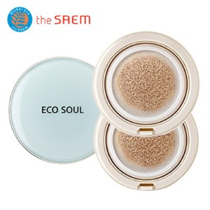 [The SAEM/ザセム]エコソウルパワープルーフクーリングビビクッションSPF50 + PA +++ 01アクアベージュ/ Eco Soul Power Proof Cooling BB...
