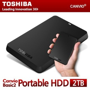 TOSHIBA Canvio Basics2 USB 3.0 2.5 Portable Hard Disc Drive External HDD Black 1TB / 2TB