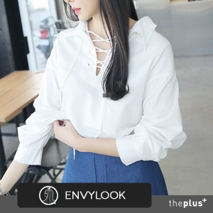 ★EnvyLook★Super Sale ★Front String Detail Blouse ★ Frminine ★ Unique ★ Good Material★ Korean Fashion