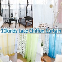 Lace Window Curtain★1+1★Romantic /Panel/Backdrop/Wedding Curtains/Color Mesh/Roman Screen /Shade