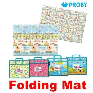 ★PROBY Folding Mat★Portable Picnic Mat + Bag/Folding Camping Multi Play Mat/Made in Korea