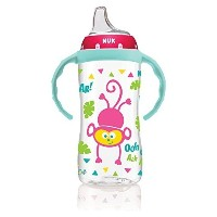 [アメリカ直送]NUK Jungle Designs Large Learner Cup in Girl Patterns  10-Ounce