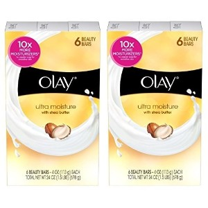 オレイ 石鹸 / Olay Ultra Moisture with Shea Butter Beauty Bar Soap 6 Bars (Pack of 2) Total 12 Bars