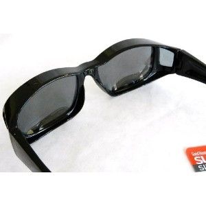 [アメリカ直送]SUNCOVER Fit Over Your RX Glasses Polarized Sunglasses (481) + FREE BONUS CLEANING CLOTH