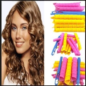 Long 55cm*2.5cm Magic Ringlet Hair Curlers Leverag Curlformers Spiral Rollers
