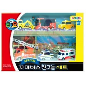 Tayo Special Little Bus 6 Kinds of Friends Set/Parking play/Track play/Car toys/Infant toys