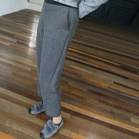 [zoozoom] Banding incision baggy pants 2color / 25293