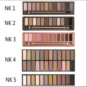 NK 1 2 3 4 5 SMOKY naked eyeshadow with brush kit Makeup 12 color Palette cosmetic face care