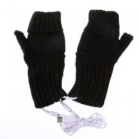 USB 2.0 Heating Fingerless Gloves Hands Warmer C1518