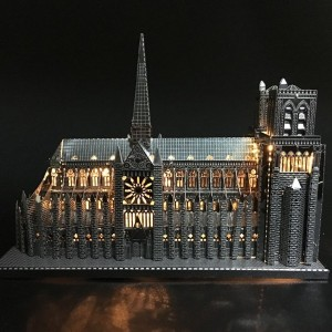 3D DIY Metal puzzle Notre Dame de Paris build model for adult/kids kindergarten educational diy...
