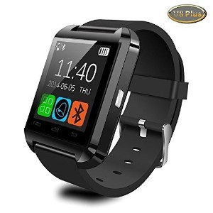 Upgraded Version Bluetooth Smart Watch Black WristWatch U8 Plus UWatch Fit for Smartphones IOS...
