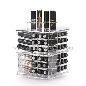 Zahra Beauty Spinning Lipstick Tower- Vitreous - The Best Lipstick Holder- Holds 81 Lipsticks ...