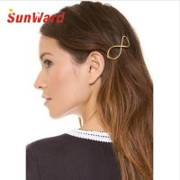 Stylish 1Pcs Women Infinity Gold Barrette Hairpin Hair Clip Hair accessories Headband Perfect Gift