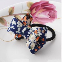 Hair Accessories 1 PC Women Flower Bow Elastic Hair Band Rope Scrunchie Ponytail Holder Plaid