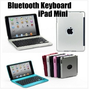 Wireless Bluetooth Keyboard with Holder Platics Case for Apple iPad Mini- laptop keyboard
