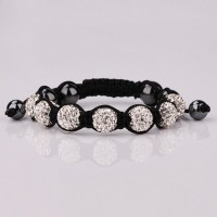 B073Shamballa jewelry fashion Bracelet Clay Disco Ball Shambala Bracelets for women crystal charm