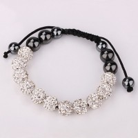 B121Romacci Bracelet Shamballa Jewelry Fashion Bracelet Clay Disco Ball Shambala Bracelets For...