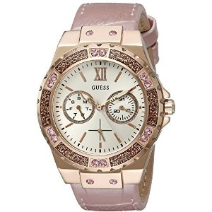 GUESS Women s U0775L3 Light Pink and Rose Gold-Tone Multi-Function Watch