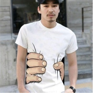 042 10 colors big Hand t shirt!Man men clothes Printing Hot 3D visual creative personality spoof...