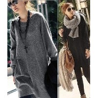 women lady loosed long knitted sweater girl knitted jumper coat one size