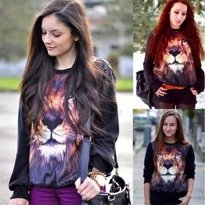 New Women s Men s 3D Space Lionhead Galaxy Animal Hoodie T Shirt Coat Sweater Sweatshirt Christmas...