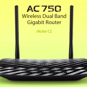 TP-LINK AC750 Wireless Dual Band Gigabit Router / Wireless Router / Dual Band / Lag-Free Work /...