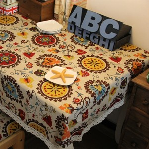 Sale 60CM*60CM Mediterranean style Tablecloths Table Cloths Mats Cover Fabric Linens Kitchen Dining...