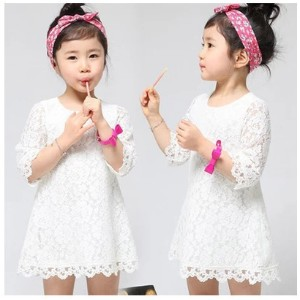 SG 2015 Spring Kids Dress ★ Pretty Girl Dresses/Stylish Girls Coat/Child Coats/Korean Kid High...