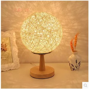 The bedroom bedside table features creative fashion modern decorative lamp night light garden lamp...