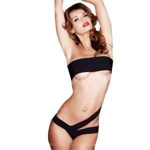 One Piece Solid Bandeau Sexy Womens Swimwear